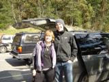 Marla poses with the next Western States 100 winner, Brian