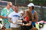 Scott passes the trophy to Graham & Nikki