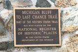 Michigan Bluff Plaque