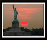Statue of Liberty at sunset 032