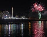 Coney Island Fireworks & Parachute Lights