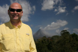 Dale w/Arenal Volcano in the background