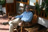 Dale on Chalet  Nicholas front porch