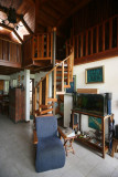 Chalet Nicholas (spiral staircase up to loft)