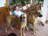 Angela with Marty and Muki