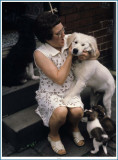 Dorothee gaskell step with young dogs