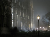 Westminster on Foggy Night