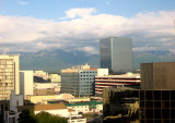 Anchorage Skyline from Cpt Cook Hotel Room