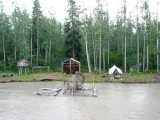 Alaskan Fish Camp & Fish Wheel
