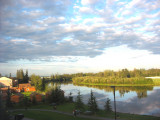 View of Chena River from Room at Fairbanks Princess Lodge
