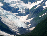 Closeup of Burns Glacier