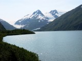 Portage Glacier at End of Lake