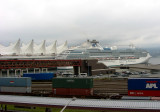 Island Princess at Dock in Vancouver