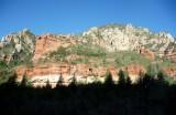 Riding through Oak Creek Canyon