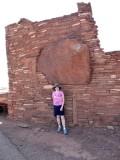 Natural Stone in Pueblo Wall