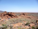 Overview of Wupatki Pueblo, AZ