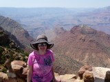 Looking West into a Hazy Grand Canyon