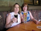 Susan and Susan Starting Lunch at Oak Creek Brewery & Restaurant