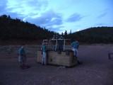 Red Rock Balloon Crew at Dawn