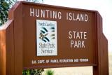 Hunting Island sign