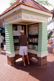 Tom checks out the information kiosk in Cape May