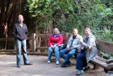 Waiting for the tram tour at Mariposa Grove in Yosemite