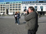 Being a typical tourist at the Brandenburg Gate in Berlin