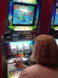 Sharon at her favorite slot machine