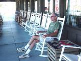 Tom at the Cracker Barrel
