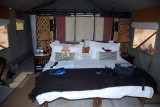 OUR BED IN THE TENT