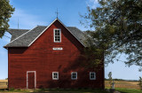 The Heflin barn was built in 1901 and is one of the many barns restored with the help of the Iowa Barn Association.