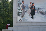 Cleaning Around the Mural, P'yongyang