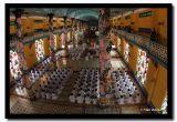 Caodai Monks in Prayer at the Main Cathedral, Thay Ninh, Vietnam.jpg