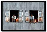 Pair or Windows, Inle Lake, Myanmar