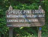Entrance to Spruce Pine Lodge