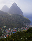 The Majestic Pitons on an Enchanted Island