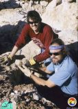 Rick Green and Tom Scott at Whites Pit collecting calcite.jpg