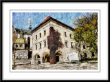 In the grounds of Wawel Castle at Krakow.Poland...