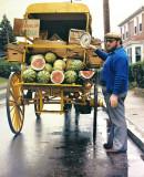The wagon Peddler. Providence RI . Canon F1