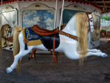 The flying horse carousel at Watch Hill at 5;45 am
