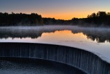 First light at the Scituate reservoir horse shoe dam