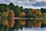 Autumn arrives  at carbuncle pond.