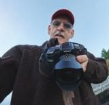 Self portrait  handheld with a fisheye lens.