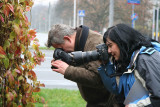 Tomasz and Jola hunt fall leaves