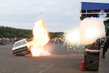 Stunts show - explosion and fire from bazooka