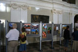 Photography exhibition inside The Knights Hall
