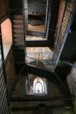 Inside tower of Basilica
