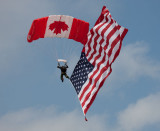 Canadian Forces Presenting the U.S. Flag
