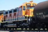 BNSF 3GS21C #1302 passing through Fort Sumner, NM....1 Sept  2010