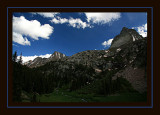 Vestal Basin Campsite View in Fine Weather
